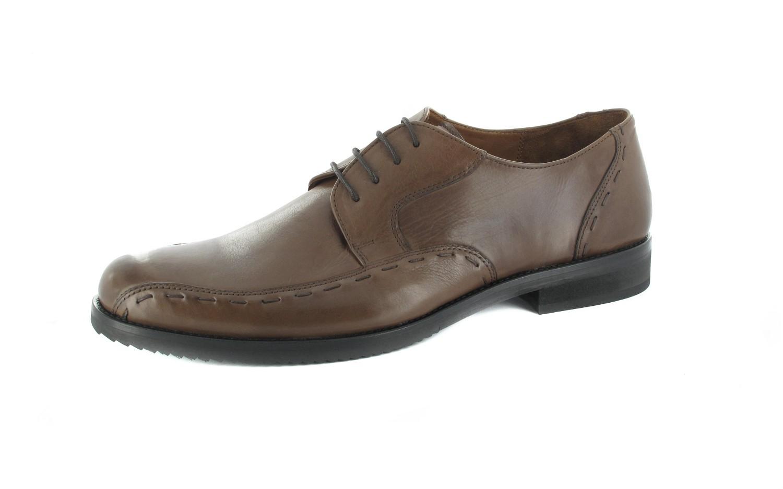 SALE - MANZ - Herren Business Schuhe - Braun Schuhe in Übergrößen – Bild 1
