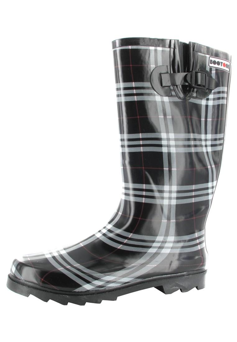 INTEX Cora - Damen Kautschuk-Gummistiefel - Schwarz Schuhe in Übergrößen – Bild 1