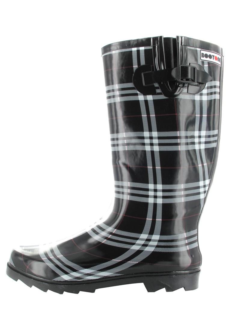 INTEX Cora - Damen Kautschuk-Gummistiefel - Schwarz Schuhe in Übergrößen – Bild 5