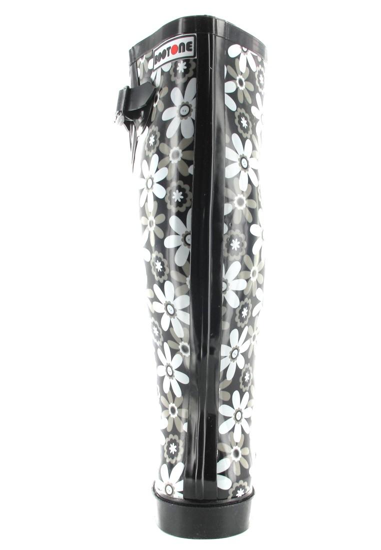 INTEX Florence - Damen Kautschuk-Gummistiefel - Schwarz Schuhe in Übergrößen – Bild 2