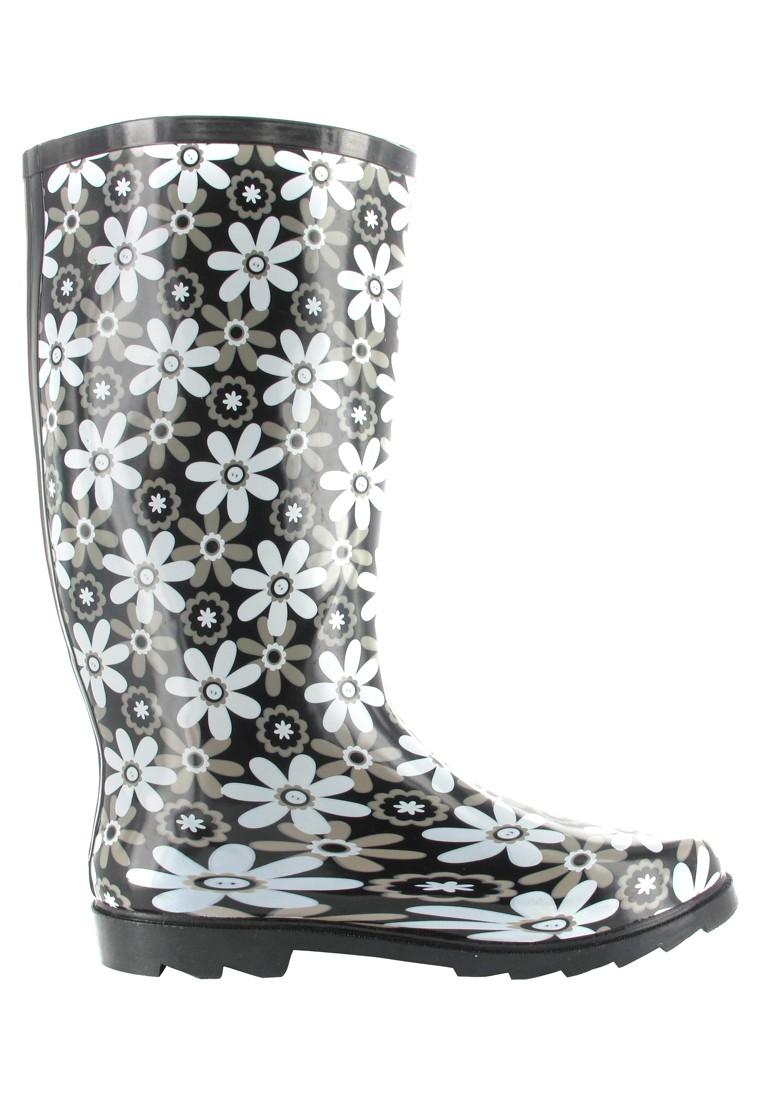 INTEX Florence - Damen Kautschuk-Gummistiefel - Schwarz Schuhe in Übergrößen – Bild 6