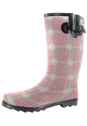 INTEX Caroline - Damen Kautschuk-Gummistiefel - Rosa Schuhe in Übergrößen