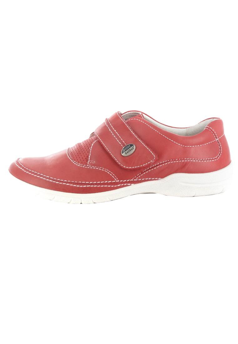 SALE - JOSEF SEIBEL - Damen Klett-Halbschuhe - Rot Schuhe in Übergrößen – Bild 5