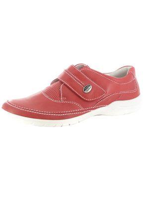 SALE - JOSEF SEIBEL - Damen Klett-Halbschuhe - Rot Schuhe in Übergrößen