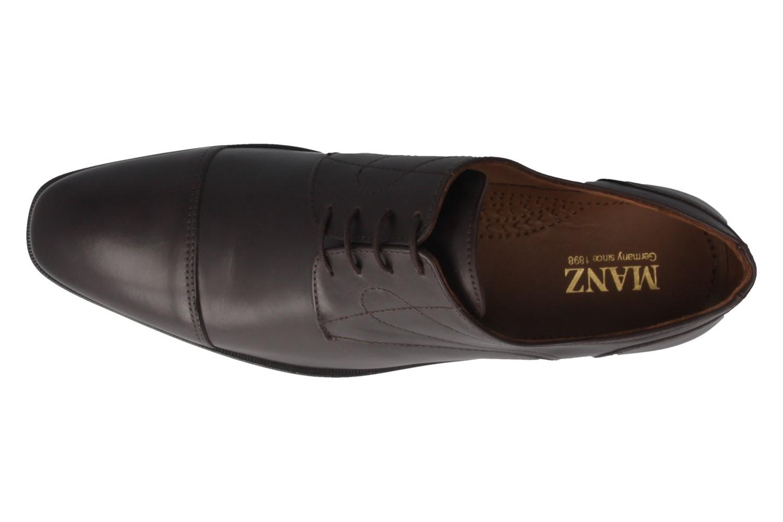 MANZ - Herren Business Schuhe - Braun Schuhe in Übergrößen – Bild 5