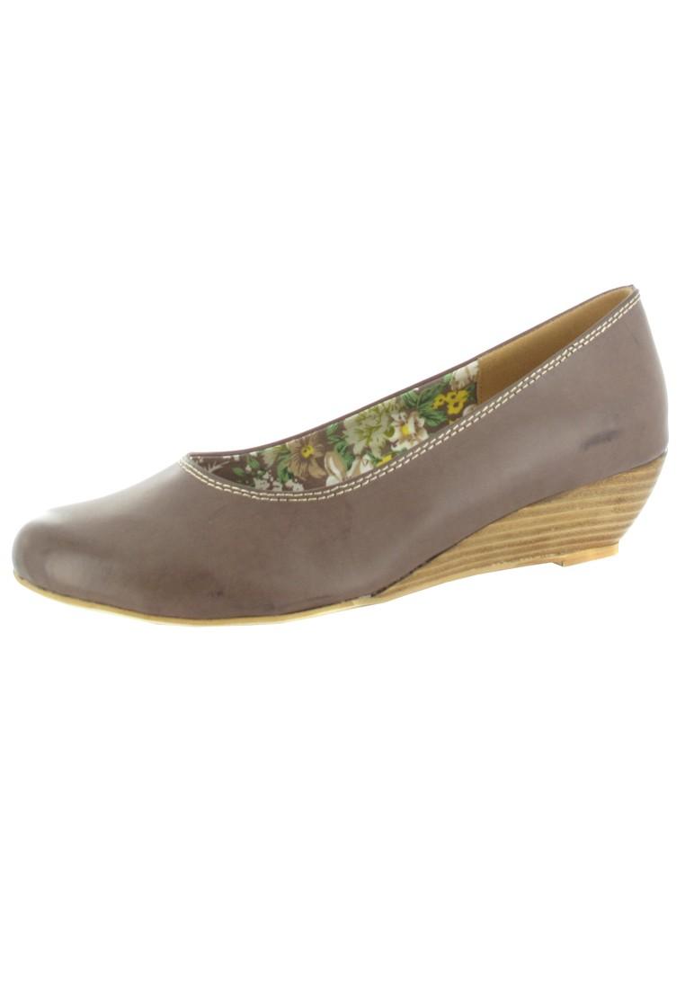 SALE - ANDREA CONTI - Damen Keil-Pumps - Braun Schuhe in Übergrößen – Bild 1