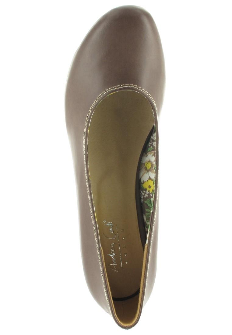 SALE - ANDREA CONTI - Damen Keil-Pumps - Braun Schuhe in Übergrößen – Bild 7