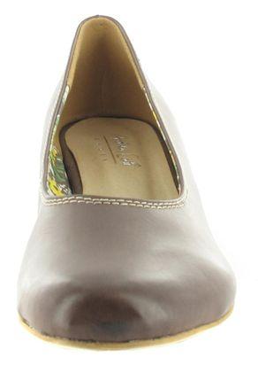 SALE - ANDREA CONTI - Damen Keil-Pumps - Braun Schuhe in Übergrößen – Bild 4