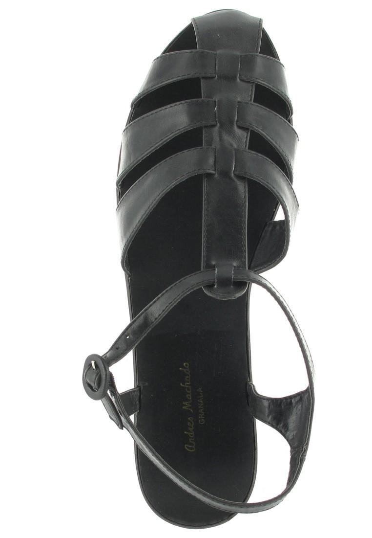 Andres Machado Sandalen in Übergrößen Schwarz AM252 Negro große Damenschuhe – Bild 7