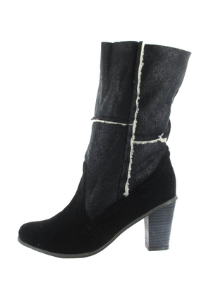 SALE - ANDRES MACHADO - Damen Stiefel - Schwarz Schuhe in Übergrößen – Bild 5