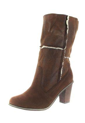 SALE - ANDRES MACHADO - Damen Stiefel - Braun Schuhe in Übergrößen – Bild 1