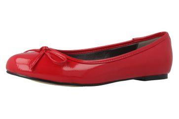 ANDRES MACHADO - Damen Ballerinas - Lack Rot Schuhe in Übergrößen