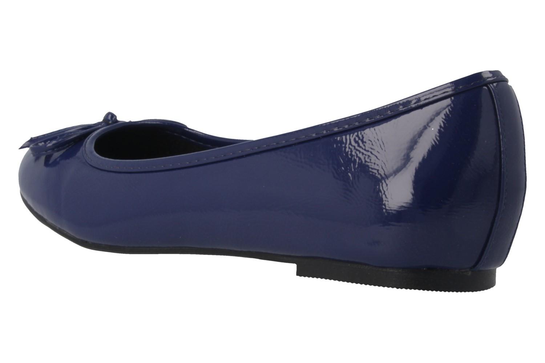 ANDRES MACHADO - Damen Ballerinas - Lack Blau Schuhe in Übergrößen – Bild 2