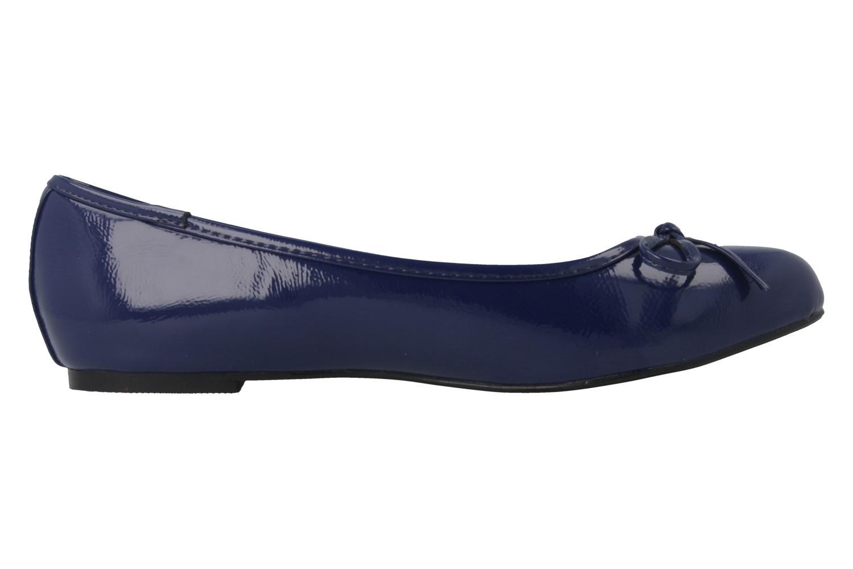 ANDRES MACHADO - Damen Ballerinas - Lack Blau Schuhe in Übergrößen – Bild 3