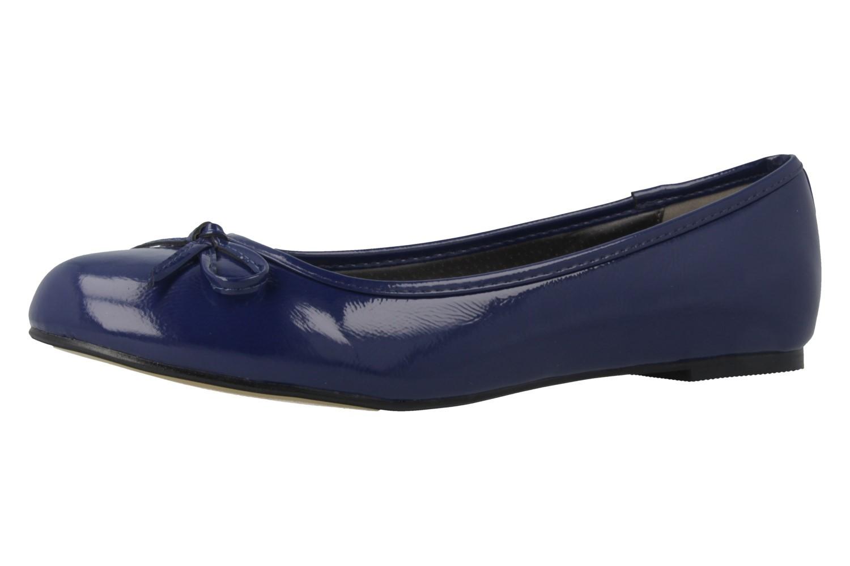 ANDRES MACHADO - Damen Ballerinas - Lack Blau Schuhe in Übergrößen – Bild 1