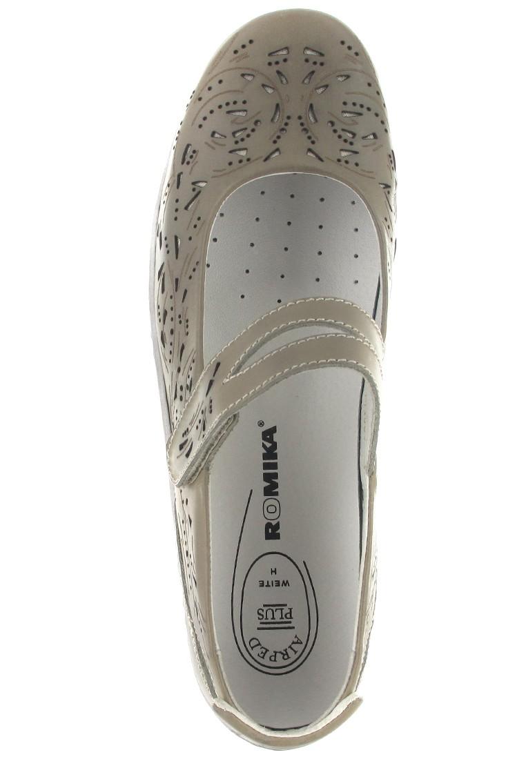 SALE - ROMIKA - Helena 04 - Damen Spangenballerinas - Grau Schuhe in Übergrößen – Bild 7
