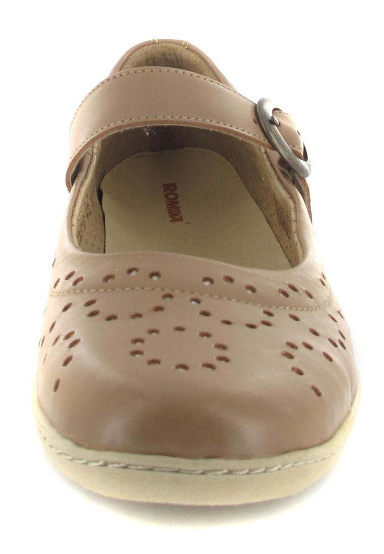 SALE - ROMIKA - Lilly 02 - Damen Spangenballerinas - Braun Schuhe in Übergrößen – Bild 4