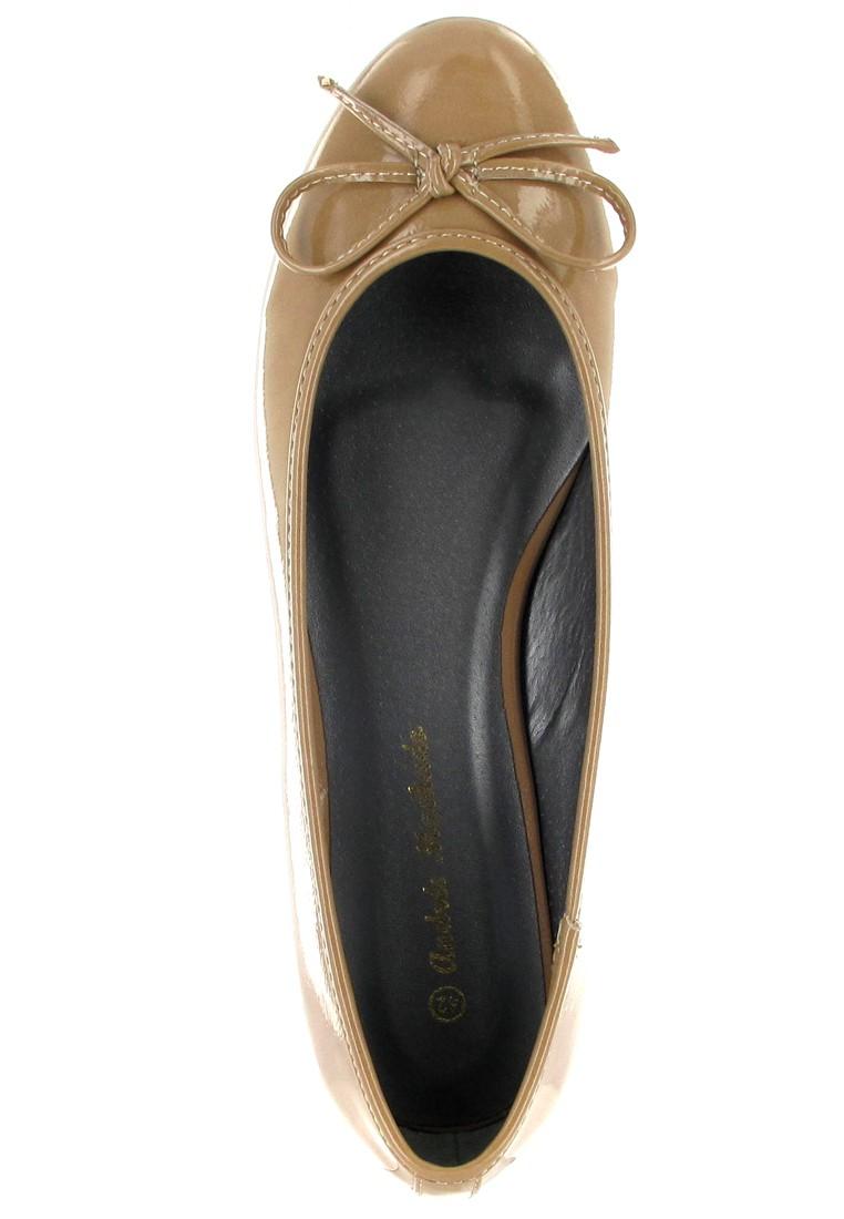 Andres Machado Ballerinas in Übergrößen Braun TG104 Charol Tostado große Damenschuhe – Bild 7