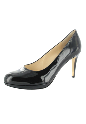 SALE - HÖGL - Damen Plateau Pumps - Lack Schwarz Schuhe in Übergrößen – Bild 1