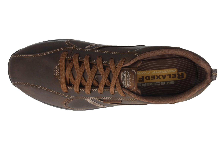 SKECHERS - Levoy  - Herren Halbschuhe - Braun Schuhe in Übergrößen – Bild 4