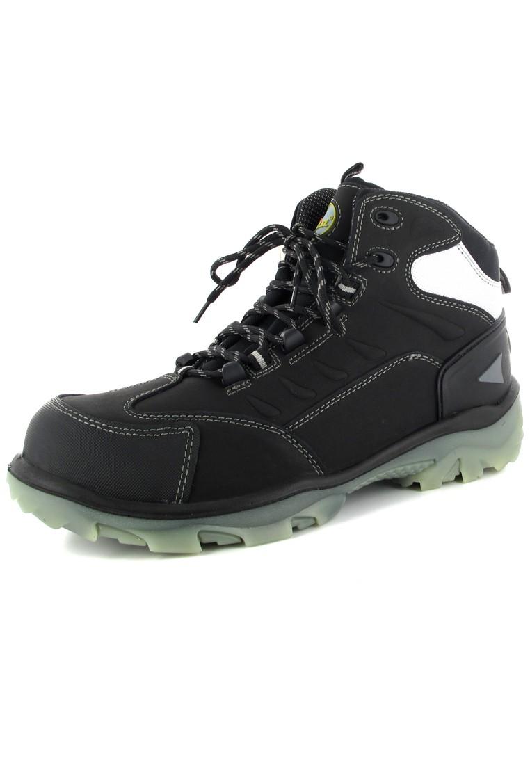 WICA - Herren Sicherheits Stiefel S3 - Schwarz Schuhe in Übergrößen – Bild 1
