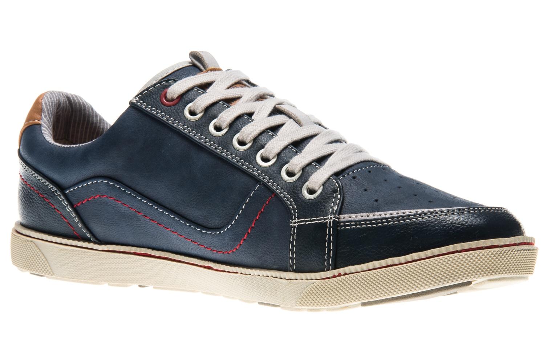 Mustang Shoes Sneaker in Übergrößen Blau 4073-302-800 große Herrenschuhe – Bild 5