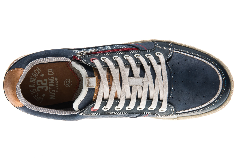 Mustang Shoes Sneaker in Übergrößen Blau 4073-302-800 große Herrenschuhe – Bild 6