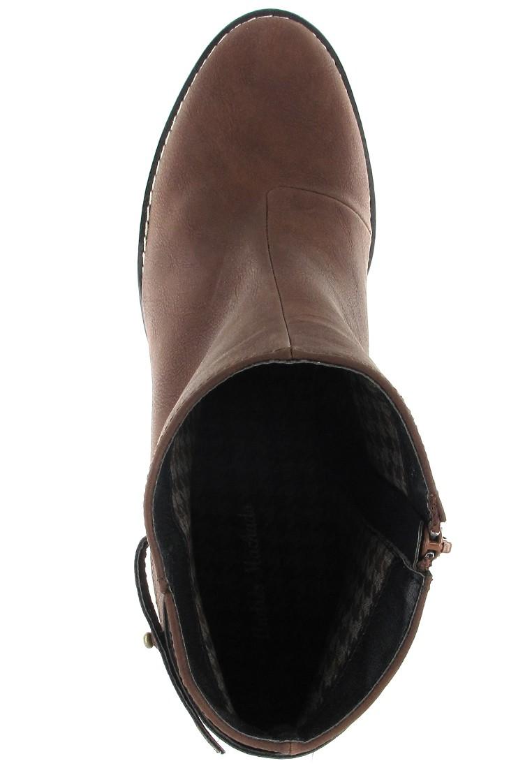 Andres Machado Stiefeletten in Übergrößen Braun AM4022 Pull Marron große Damenschuhe – Bild 7