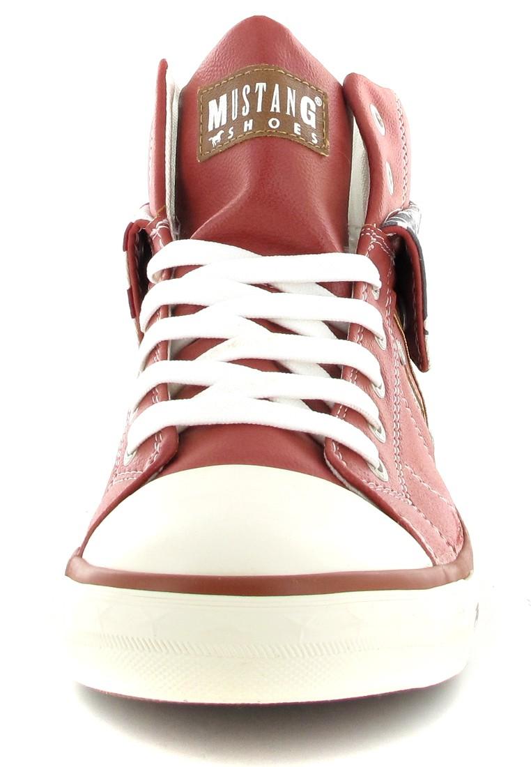 Mustang Shoes High Top Sneaker in Übergrößen Rot 1146-501-5 große Damenschuhe – Bild 4