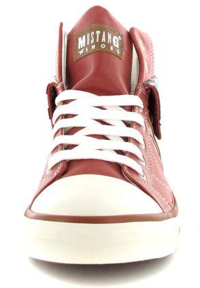 MUSTANG - Damen High Top Sneaker - Rot Schuhe in Übergrößen – Bild 4