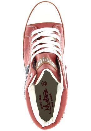 Mustang Shoes High Top Sneaker in Übergrößen Rot 1146-501-5 große Damenschuhe – Bild 7