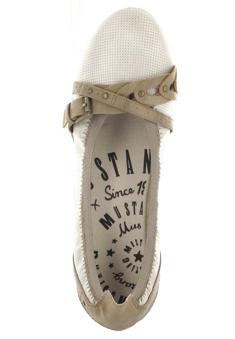 Mustang Shoes Ballerinas in Übergrößen Beige 1181-202-203 große Damenschuhe – Bild 7
