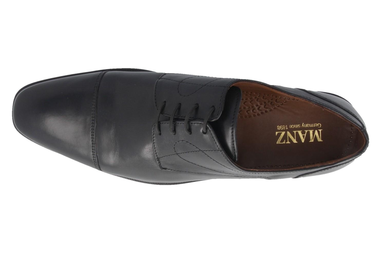 Manz Essex AGO Business-Schuhe in Übergrößen Schwarz 113033-12-001 große Herrenschuhe – Bild 4