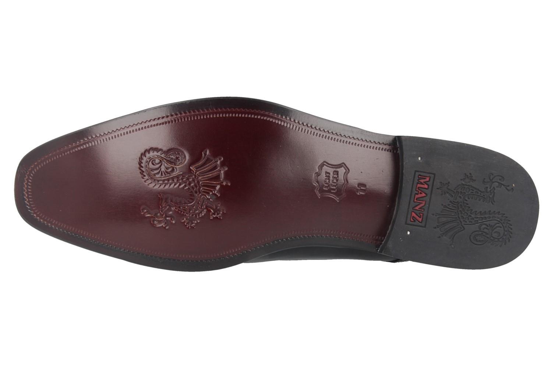 Manz Essex AGO Business-Schuhe in Übergrößen Schwarz 113033-12-001 große Herrenschuhe – Bild 5
