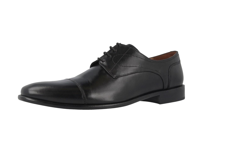 Manz Business-Schuhe in Übergrößen Schwarz 113033-12-001 große Herrenschuhe – Bild 1