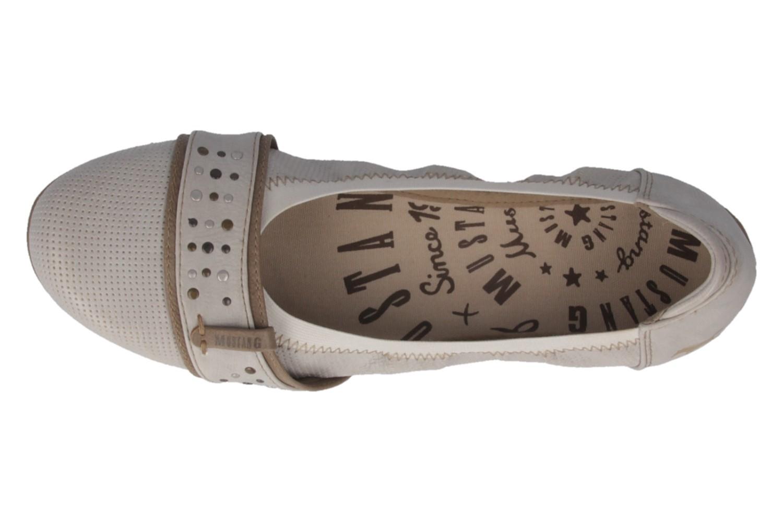 MUSTANG - Damen Ballerinas - Weiß Ice Schuhe in Übergrößen – Bild 4