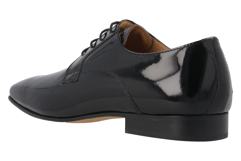 MANZ - Herren Business Schuhe - Lack Schwarz Schuhe in Übergrößen – Bild 2