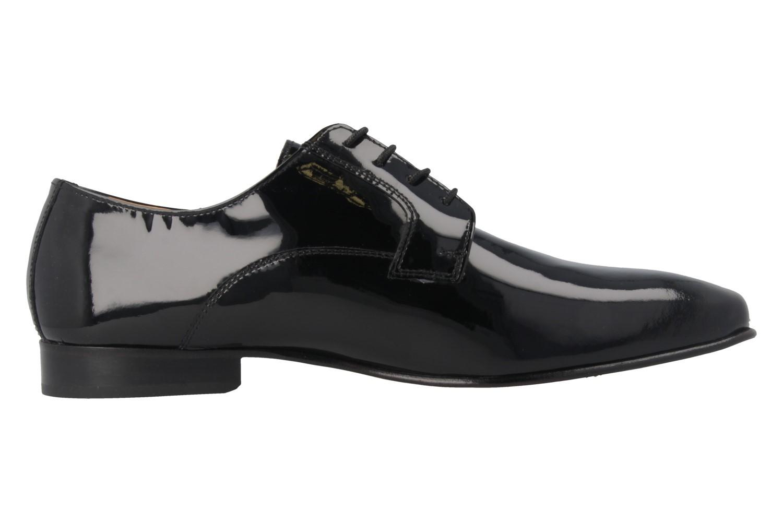 MANZ - Herren Business Schuhe - Lack Schwarz Schuhe in Übergrößen – Bild 3