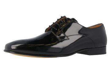 MANZ - Herren Business Schuhe - Lack Schwarz Schuhe in Übergrößen – Bild 1