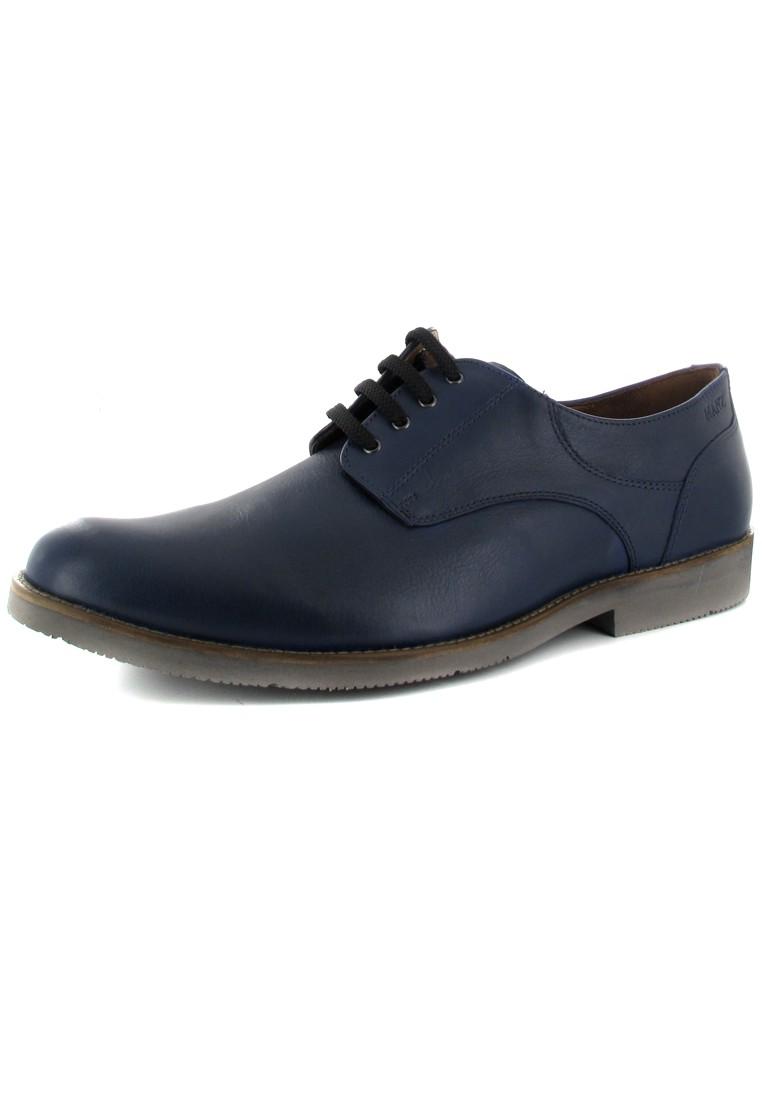 SALE - MANZ - Nizza - Herren Halbschuhe - Blau Schuhe in Übergrößen – Bild 1