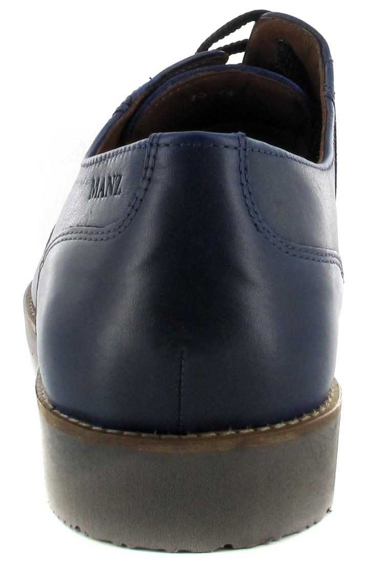 SALE - MANZ - Nizza - Herren Halbschuhe - Blau Schuhe in Übergrößen – Bild 2