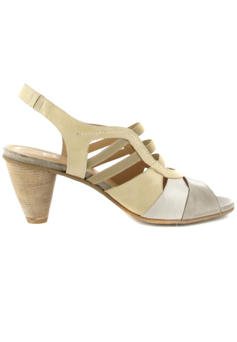 FIDJI - Damen Sandaletten - Beige Schuhe in Übergrößen – Bild 6