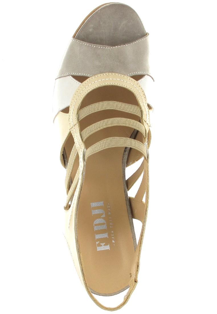 FIDJI - Damen Sandaletten - Beige Schuhe in Übergrößen – Bild 7