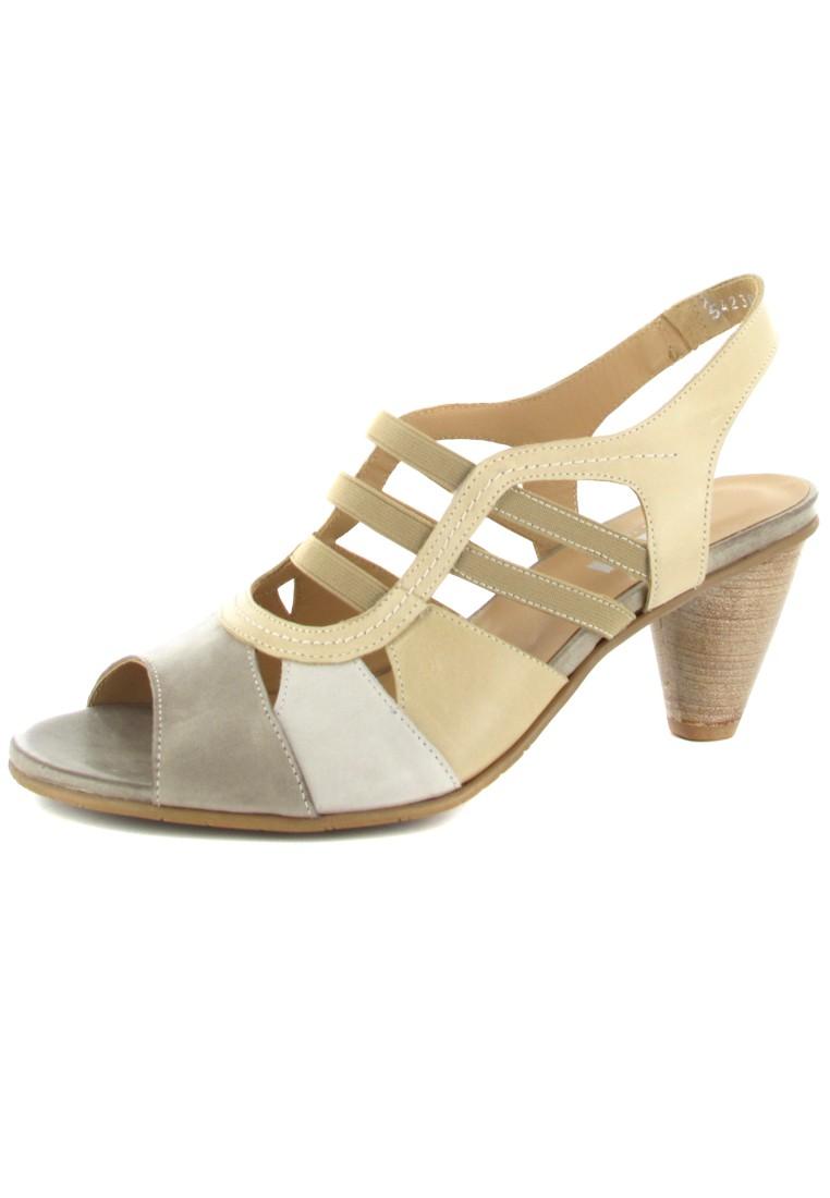 FIDJI - Damen Sandaletten - Beige Schuhe in Übergrößen – Bild 1
