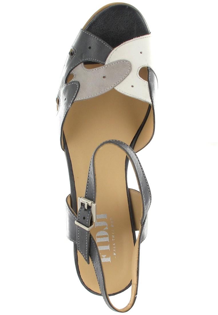 Fidji Sandaletten in Übergrößen Schwarz P04 V137 002 große Damenschuhe – Bild 7