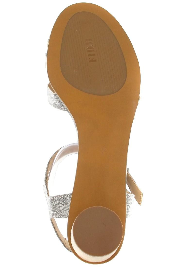 FIDJI - Damen Sandaletten - Grau Schuhe in Übergrößen – Bild 3