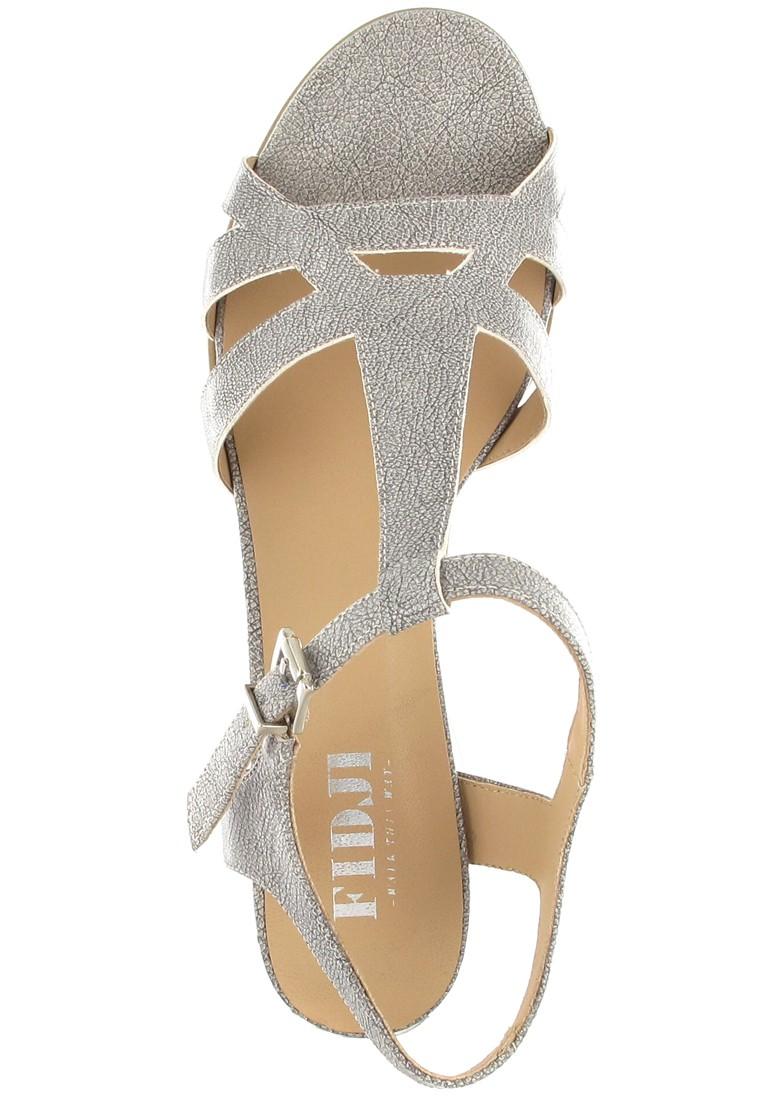 FIDJI - Damen Sandaletten - Grau Schuhe in Übergrößen – Bild 7