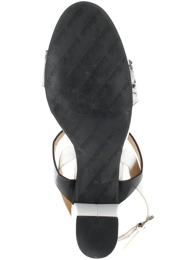 Andres Machado Sandaletten in Übergrößen Weiß AM5007 Blanco/Negro große Damenschuhe – Bild 3