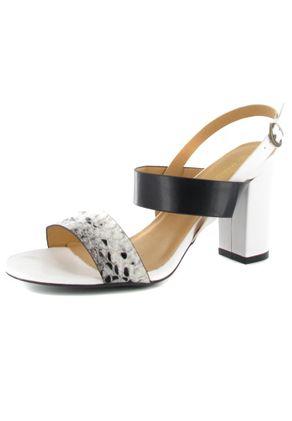 Andres Machado Sandaletten in Übergrößen Weiß AM5007 Blanco/Negro große Damenschuhe – Bild 1