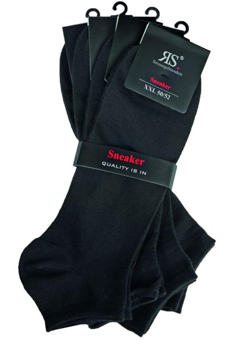RIESE - Herren Sneakersocken 4er Pack - 31050 Schwarz XXL Socken – Bild 2
